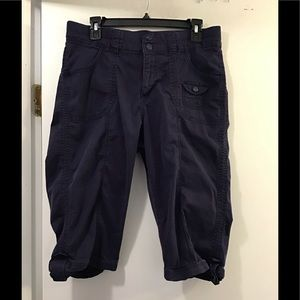 Lee Easy Fit Navy Blue Shorts Large long Size 12